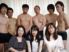 Housewives are moaning from pleasure during a group sex adve