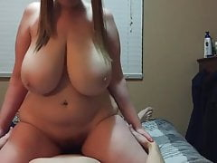BBW with Mega tits gets fucked. POV